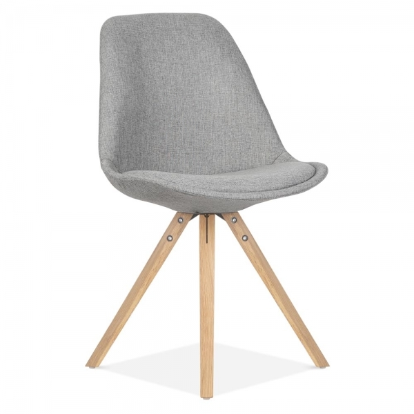 eames inspired pyramid upholstered dining chair in cool. Black Bedroom Furniture Sets. Home Design Ideas
