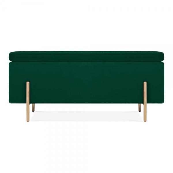 Swell Valerie Ottoman Storage Bench Velvet Upholstered Forest Green Short Links Chair Design For Home Short Linksinfo