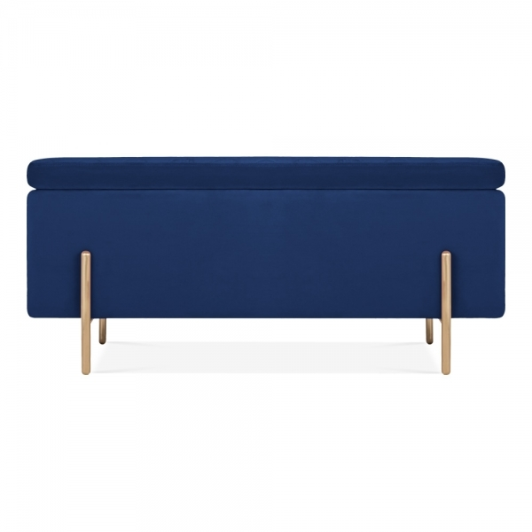 classic fit 04a6c 48846 Cult Living Valerie Ottoman Storage Bench, Velvet Upholstered, Royal Blue
