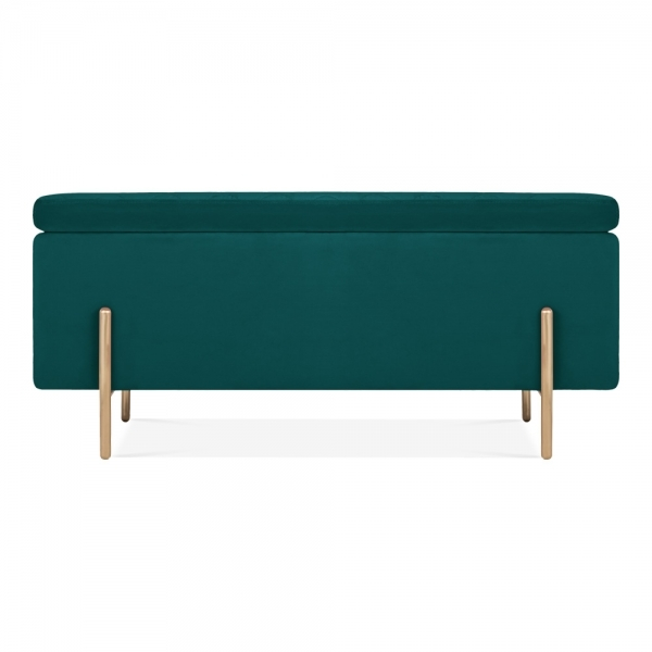 Cool Valerie Ottoman Storage Bench Velvet Upholstered Teal Machost Co Dining Chair Design Ideas Machostcouk