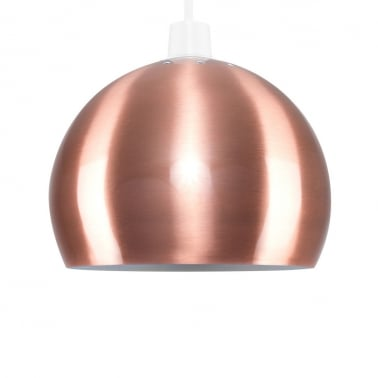Venus Easy Fit Pendant Lamp Shade, Brushed Copper