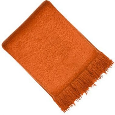 Vogue Faux Mohair Throw, Rust Orange