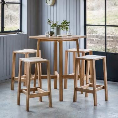 Bar tables designer bar kitchen high table cult uk waldorf contemporary breakfast bar table oak workwithnaturefo