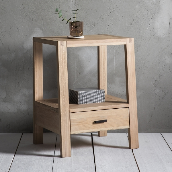Cult Living Waldorf Modern 1 Drawer Bedside Table Oak