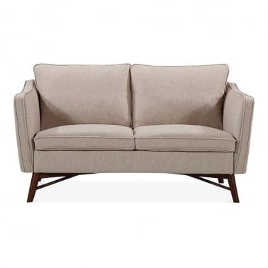 Walton 2 Seater Small Sofa, Fabric Upholstered, Cream