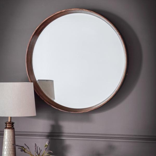 Warwick Small Round Wall Mirror Modern Wall Mirrors