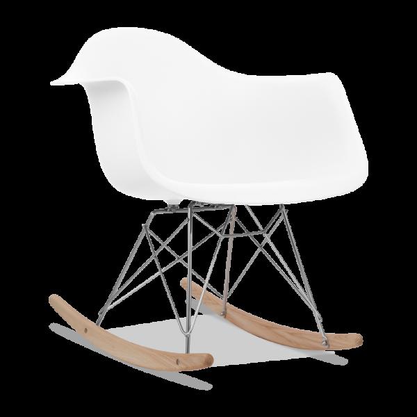 charles eames style white rar rocker chair modern chairs cult uk