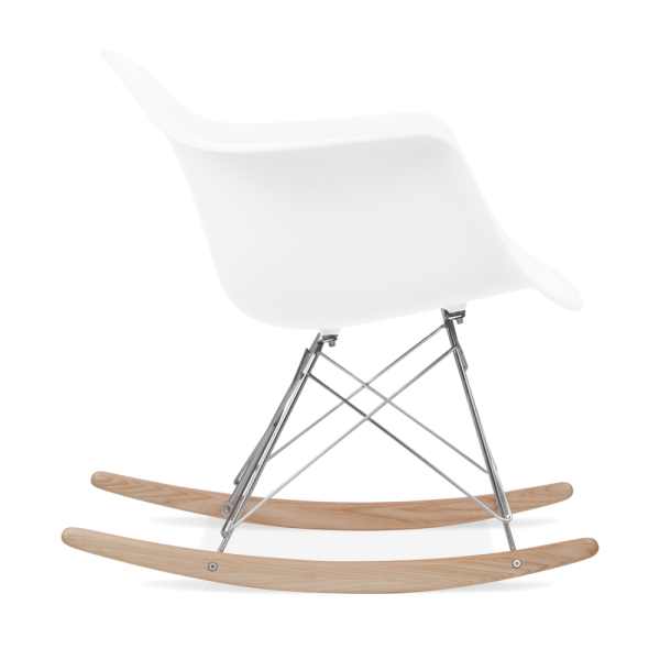 White RAR Style Rocker Chair