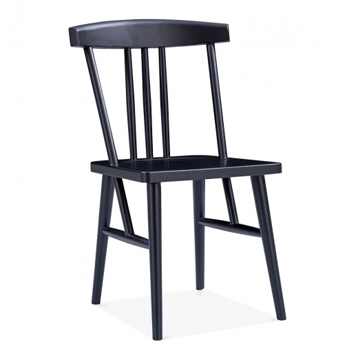 Cult Design Windsor Trinity Dining Chair, Solid Wood, Black