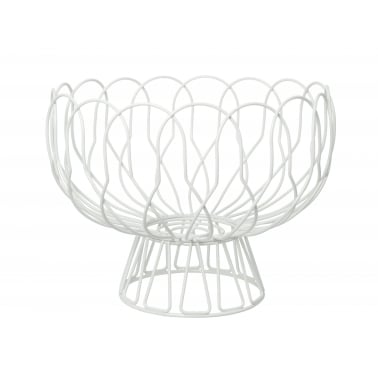 Wire Fruit Bowl - White