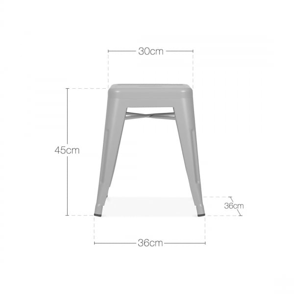 Terrific Tolix Style Metal Low Stool Gunmetal 45Cm Gmtry Best Dining Table And Chair Ideas Images Gmtryco