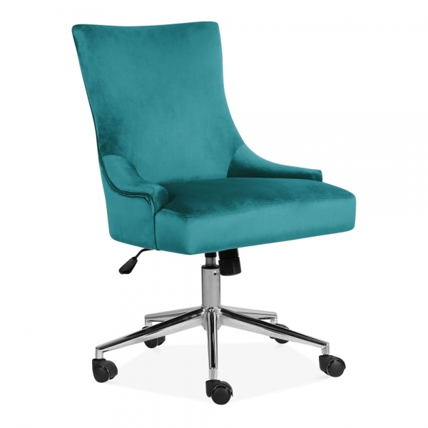 Yuma Teal Upholstered Lounge Swivel Chair Office Furniture